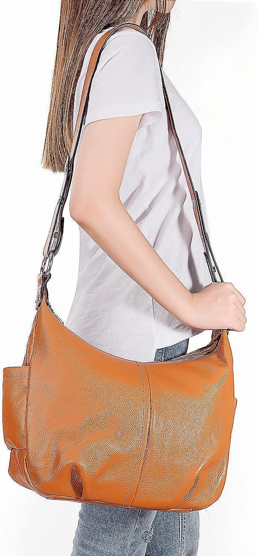 Dapengzhu Women's Vintage Leather Hobo Crossbody Shoulder Bag Hot sell