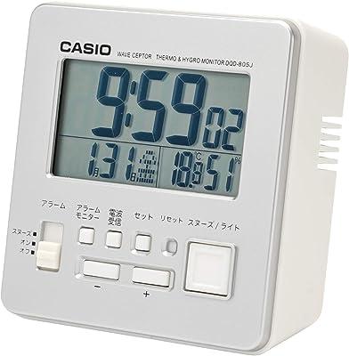 CASIO(カシオ) 目覚まし時計 電波 シルバー デジタル 温度 湿度 カレンダー 表示 DQD-805J-8JF