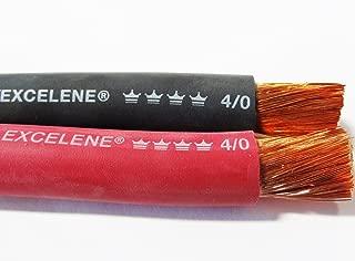 100' 4/0 EXCELENE WELDING BATTERY CABLE 50' BLACK 50' RED USA MADE 600V COPPER