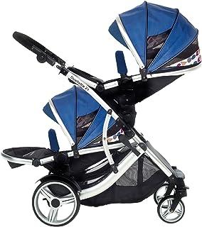 Kids Kargo Duellette 21 BS resesystem, barnvagn, dubbel barnsportbil (blå)