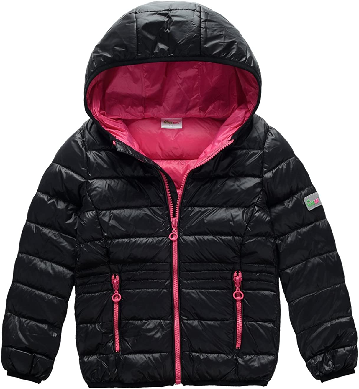 M2C Little Girls & Youth Lightweight Puffer Down Jacket with Hood
