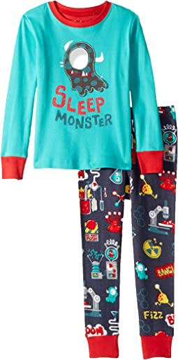 Sleep Monster Organic Cotton Applique Pajama Set (Toddler/Little Kids/Big Kids)
