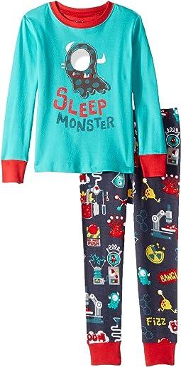 Sleep Monster Organic Cotton Applique Pajama Set (Toddler/Little Kids/Big Kids)