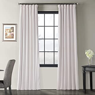 Half Price Drapes VPCH-110602-96 Signature Blackout Velvet Curtain, Off White, 50 X 96