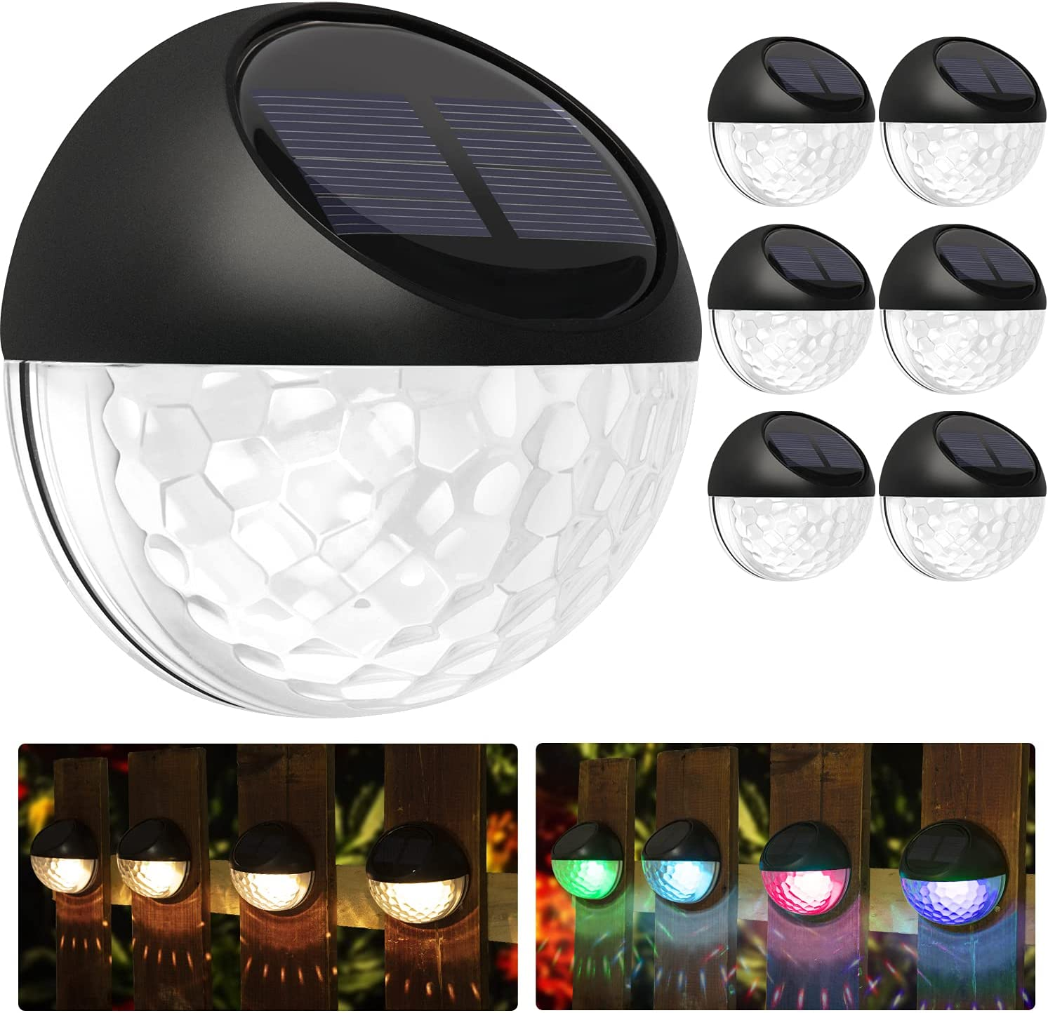 6 Pack Superior Solar Deck Lights IP Outdoor WaterproofSolar Step Max 51% OFF 65