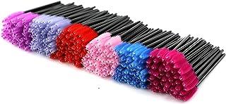 EZGO 300 Pack Multicolor Disposable Eyelash Mascara Brushes Wands Applicator Makeup Brush Kits, 6 Colors (300 Pieces)
