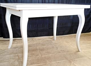 Legno&Design Mesa Rectangular Extensible Blanco Lacado