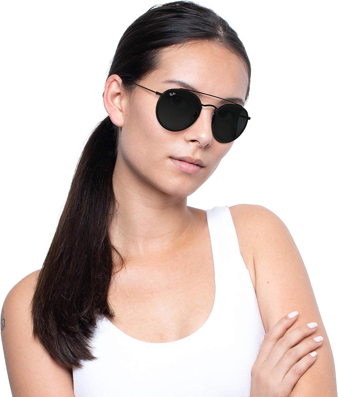 Ray-Ban Rb3647n Double Bridge Round Sunglasses