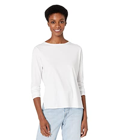 Majestic Filatures Cotton Silk Touch Long Sleeve Boatneck Tee