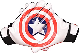 LYCOS GEAR Football Receiver Gloves (Captain America) - Youth/Adult Sizes