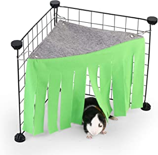 DOGIDOLI Sky Blue, Pink, Purple, Green & Strawberry Red Guinea Pig Hideout, Corner Fleece Forest Hideaway for Guinea Pigs, Ferrets, Chinchillas, Rats, Bunny & Other Small Animals Without Metal Fences