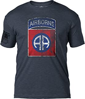Army 82nd Airborne Division 'Distressed' Patriotic Men's T Shirt