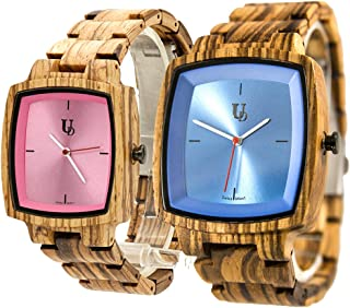 His and Hers Matching Swiss Wood Watches, Couples Wood Watch Set,Wedding Gifts for Couples, Anniversary Gifts for Couples