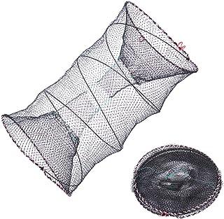 Gorgeri Fishing Pot,6//12 Holes Automatic Fishing Net Shrimp Cage Nylon Foldable Crab Fish Trap Cast 6孔