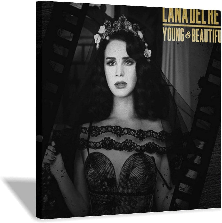 YTCH Vintage Sexy Women Lana Del Canvas Art Poster Pi Rey Max Max 77% OFF 85% OFF