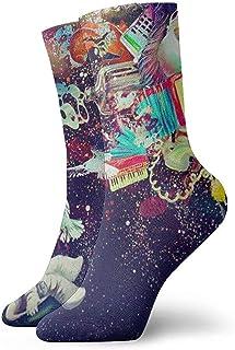 Dydan Tne, Niños Niñas Locos Divertidos Psicodélicos Trippy Astronauta Calcetines Espaciales Calcetines Lindos de Novedad