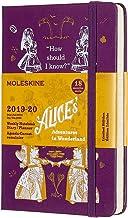 モレスキン 手帳 2019年7月始まり 18ヶ月 ウィークリーダイアリー 不思議の国のアリス ハードカバー ポケットサイズ パープル DAL18WN2Y20