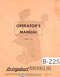 Bridgeport Turret Milling Machine Operations Manual