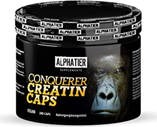 Creapure Caps - 240 Creatinecapsules - CREATINE-MONOHYDRATE - 99,99% zuiver - hoogste dosis - alfa-creatine - 750mg creati...