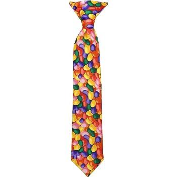 Jacob Alexander Boys' Jellybean Print Easter 11 inch Clip-On Neck Tie