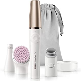 Braun FaceSpa Pro 912 Facial Epilator 3-in-1 Facial Epilating, Cleansing and Skin Toning System for Salon Beauty at Home w...