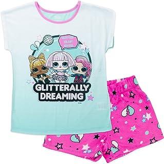 L.O.L. Surprise! Girls 2 Piece Pajama Set, Short Sleeve Shirt and Shorts Set, 100% Polyester,Girls Sizes 4/5 to 10/12