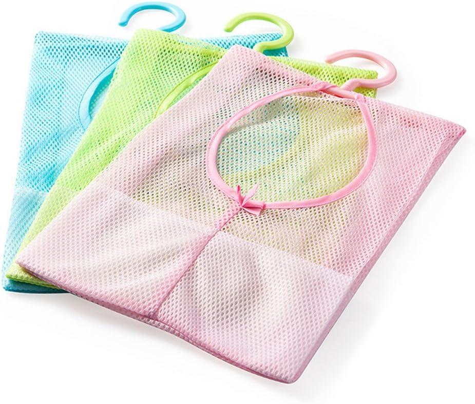 yueton Luxury 3pcs Colorful Hanging Mesh Daily bargain sale Storage O Shower Bathroom Bag