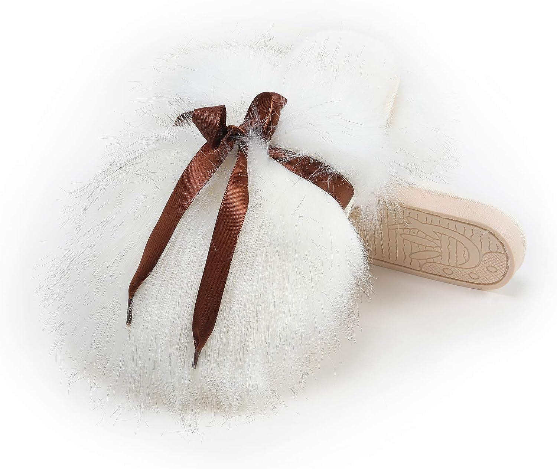 Popular overseas Fur Story Detroit Mall Women's Faux Slippers Foam House Slipp Cozy Memory