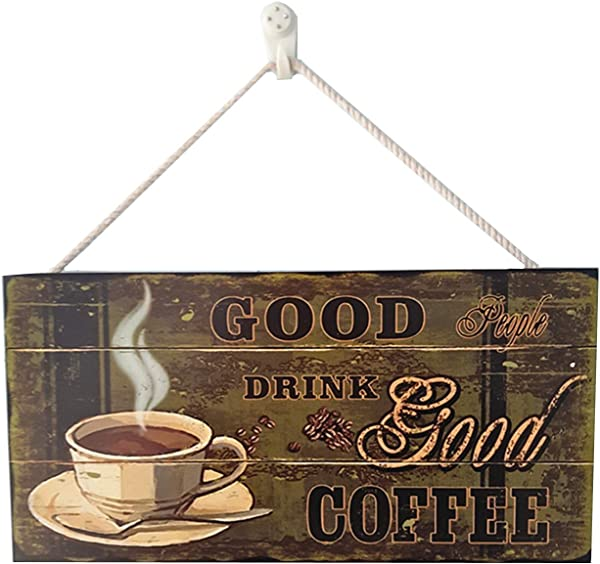 PHAETON 1PACK Sweet Kitchen Decor Coffee Sign Good Coffee Good Friends House Decor Sign Farmhouse Coffee Wall Art Sign