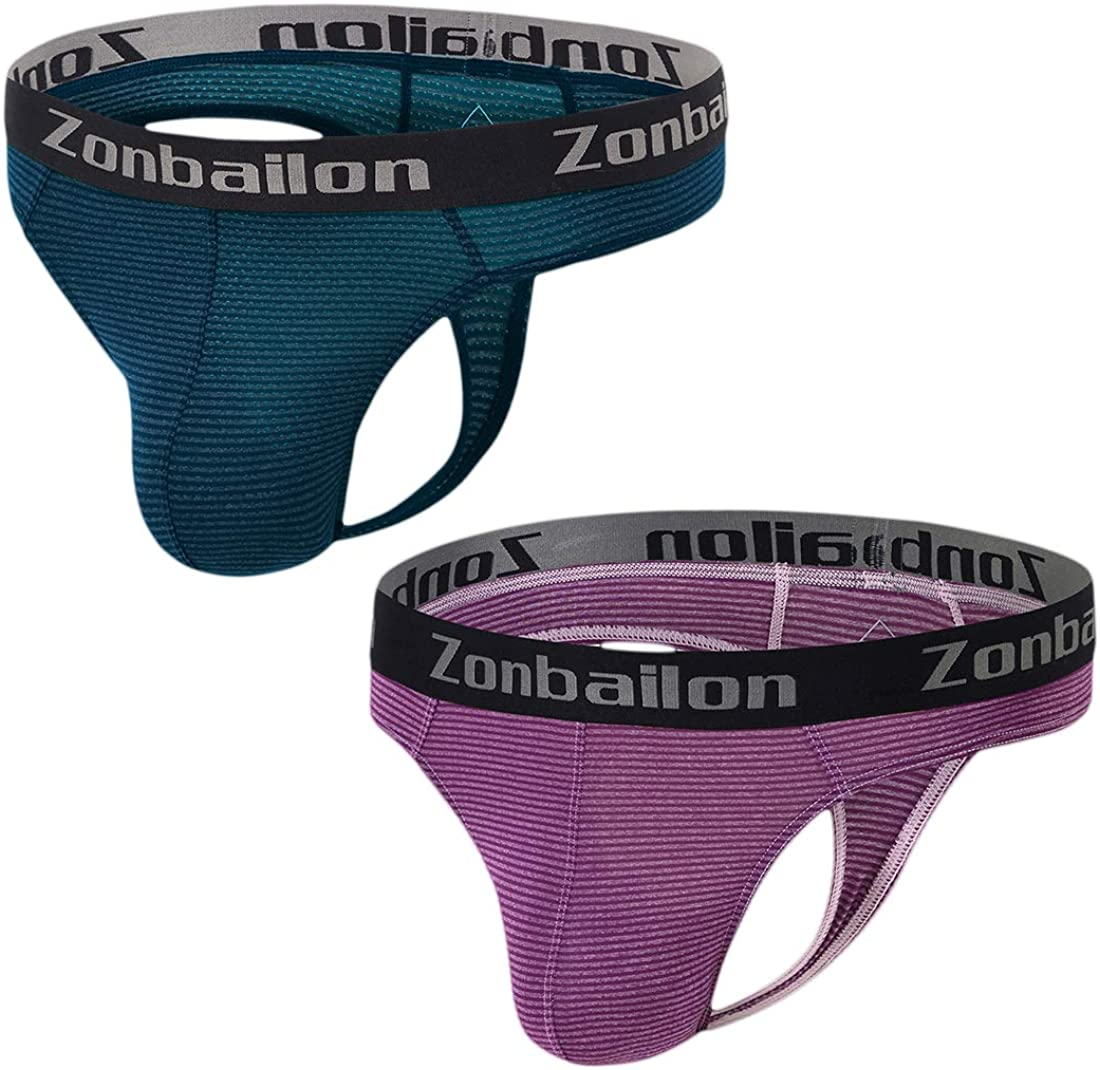 ZONBAILON Max 80% OFF Men's Thong T-Back 70% OFF Outlet Lightweight Runnin G-String Stretch