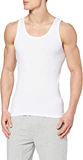 ABANDERADO Camiseta de Tirantes de Algodón Canalé Hombre