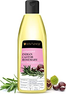 Castor Rosemary Hair Oil by Soulflower for Hair Growth, Hair Nourishment, Control Hair Loss - Organic, 100% Pure, Natural ...