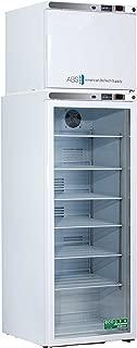 American BioTech Supply ABT-HC-RFC12G Premier Combination Refrigerator/Freezer, 1 Glass/1 Solid Doors, 12 cu. ft. Capacity, White