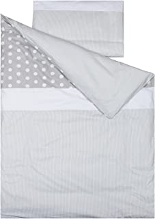 C Made in EU Polka Dots and Stars Safe for Babies Dim Duvet Cover Bedding Set 30x60cm OekoTex COT Bed 70x140cm 100/% Luxury Cotton 100x135cm Vizaro