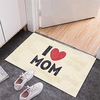 BISXOTY Mother's Day Mats,Easter Day Decoration Doormats,Anti-Skid Bottom Floor Mat,Indoor Outdoor Carpet,Entrance Mat,No...