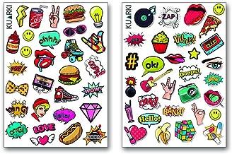 Kuarki | Pop Art Stickers Pack | 60 Pop Art Stickers | Vine Stickers | Premium Stickers | Life Planner Stickers | Laptop Stickers | Waterproof Stickers | Material: Vinyl Sticker |
