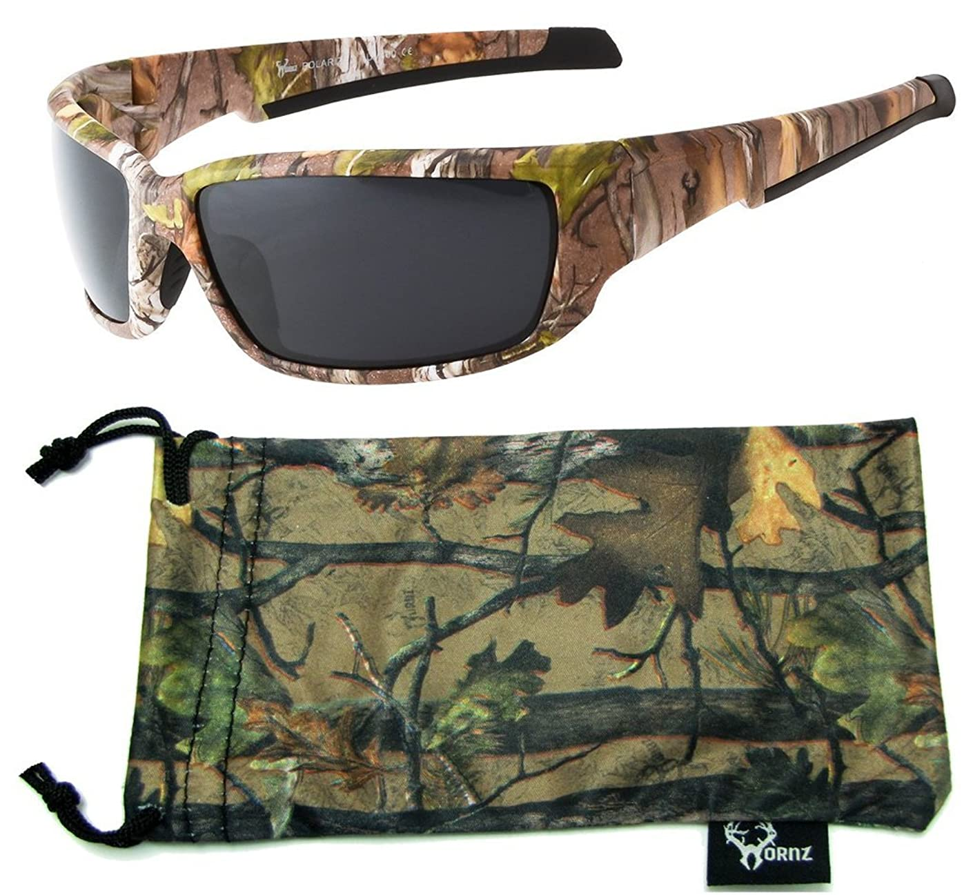 Hornz Brown Forest Camouflage Polarized Sunglasses for Men Full Frame Strong Arms & Free Matching Microfiber Pouch ggpkfqx73