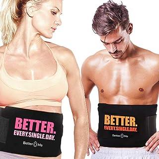 Better Me   Original Premium Waist Trainer for Women, Men with Sauna Effect   Pro Body Shaping Waist Sweat Belt Abs Workou...