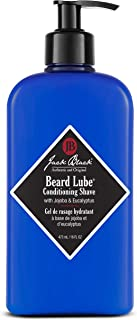Jack Black - Beard Lube Conditioning Shave, 3, 6, and 16 fl oz – Pre-shave Oil, Shave Cream, Skin Conditioner, Lightweight Formula, Softens Hair, Jojoba and Eucalyptus, Transparent Formula