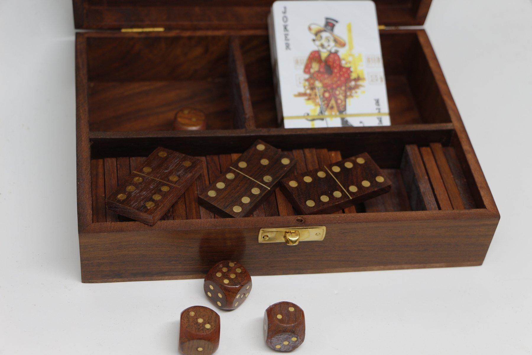 dados naipes domino juego de mesa caja náutica barco marinero: Amazon.es: Hogar