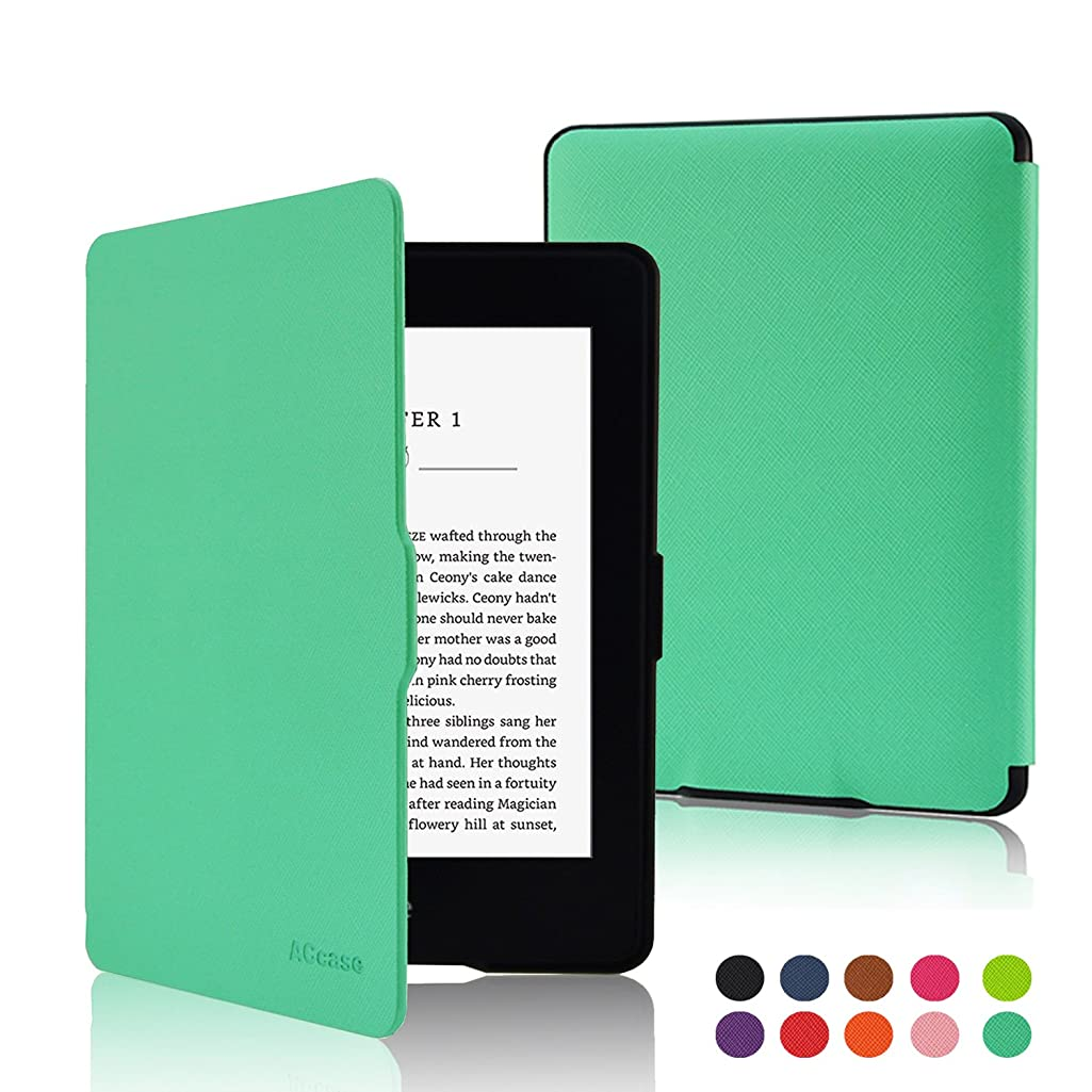 ACdream Kindle Paperwhite Case, The Thinnest and Lightest PU Leather Smart Cover Case for All-new Kindle Paperwhite (Fits All versions: 2012, 2013, 2014 and 2015 new 300 PPI), Sky Blue