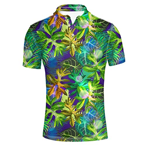 HUGS IDEA Summer Hawaiian Men s Short Sleevee Pique Polos T-Shirts 81b1a6280