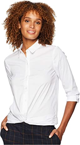 Collared Strapped Button Down Top