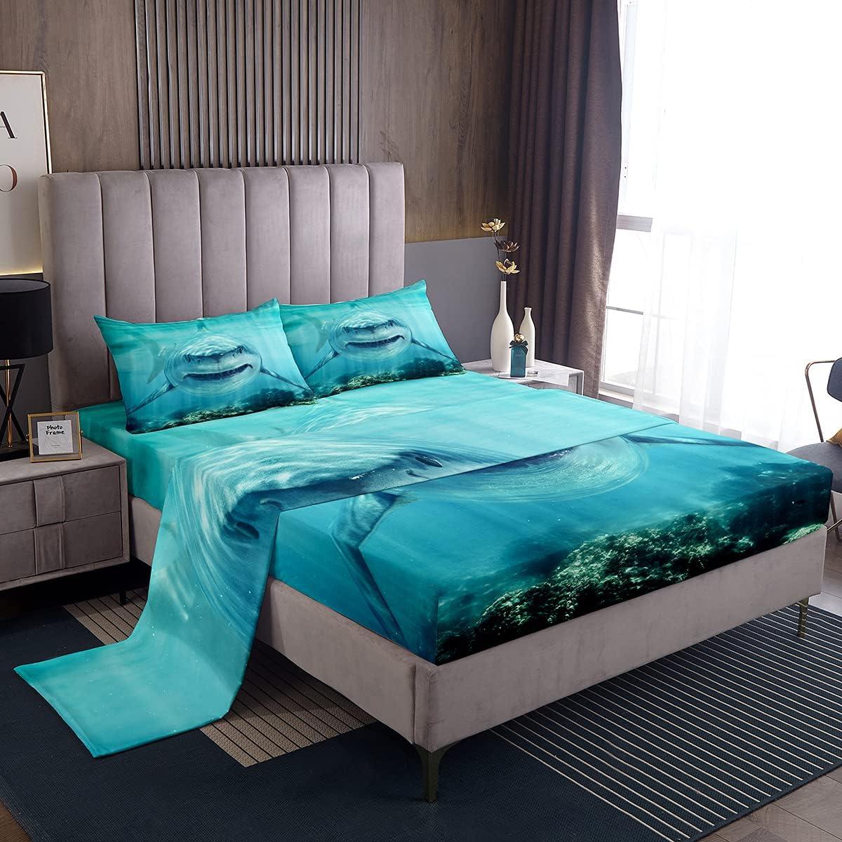 3D Shark Sheet trend rank Set Sales results No. 1 For Kids Ocean B Marine Life Teens Boys