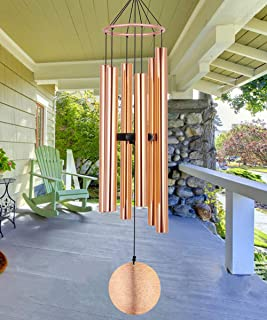 Wind Chimes Outdoor Large Deep Tone, 45 Inch Memorial Wind Chimes with 6 Aluminum Tubes Tuned Soothing -Sympathy Wind Chimes Unique for Mother, Daughter - Keep for Your Patio, Porch, Yard Décor