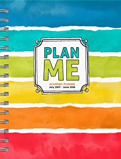 TF Publishing 2018 Academic Plan Me 6.5x8 Daily Weekly Monthly Planner - July 2017-June 2018 Calendar (18-9101A)