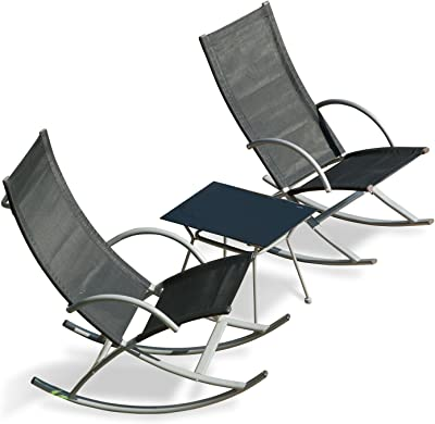 Transcontinental Group GF06585USA Outdoor Rocking Chairs, Black