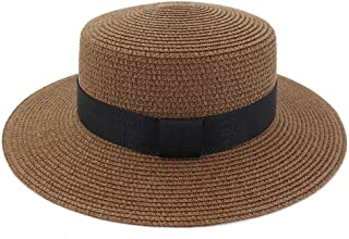 Lei Zhang Summer New Outdoor Travel Jazz Straw Hat Sun Hat Visor Beach Hat Women Black Belt With Solid Color Hat Flat Cap