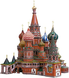 KERANOVA 195 Clever Paper Historic Buildings Saint Vasil's Cathedral (Moscow) 3D Puzzle, 36 x 35 x 41 cm, 1/150 Scale, Multi Color