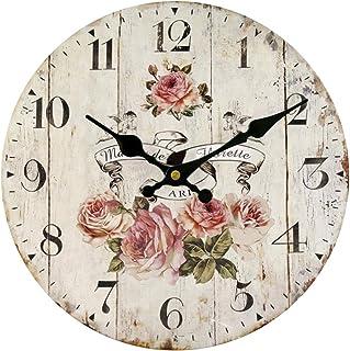 HUABEI 30CM Reloj de Pared Vintage Retro Silencioso Decoración para Habitación Dormitorio Cocina Oficina Bar